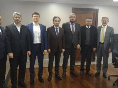 Sağlık Sektör Kurulu İBB Genel Sekreteri Baraçlı'yı Ziyaret Etti